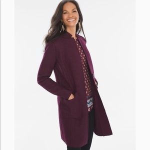 Chico's boiled wool-blend ottoman jacket coat